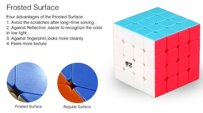 QiYi QiYuan S 4x4x4 Stickerless Magic Cube